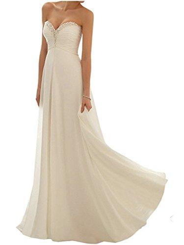 de Fiesta Vestido Vestido Elegante Gasa Noche Vestido Line Blanco Vestido Sin de Largo Partido A de de Honor de JAEDEN Tirantes Dama Mujer la CA0XwqAY