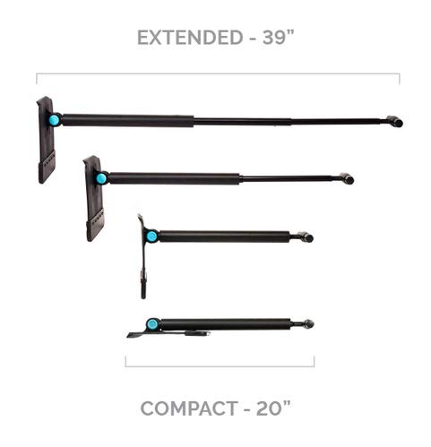SnoShark Snow & Ice Removal Tool - Extends to 2 Locking Positions - Collapses Down for Convenient Storage - Compact, Upscale, Sleek - Includes Free Car Storage Bag - The 'SNO' Tool REINVENTED!