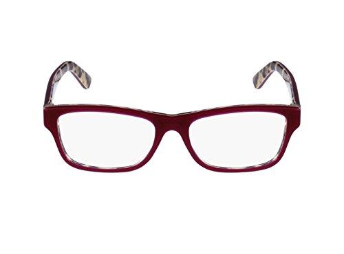 Dolce&Gabbana ENCHANTED BEAUTIES DG3208 Eyeglass Frames 2882-52 - Top Opal Bordeaux/Leo by Dolce & Gabbana