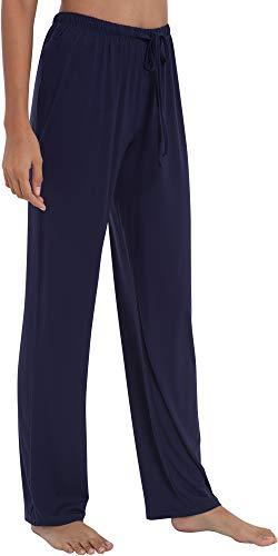 - GYS Women's Bamboo Sleep Pants, Medium, Navy Blue