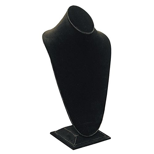 Tall Black Velvet Jewelry Necklace Display Stand ~ 14