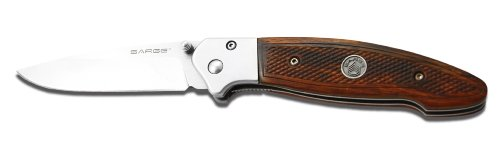 Sarge-Knives-SK-405-Wood-Pistol-Grip-Liner-Lock-Folder-Knife-with-3-14-Inch-Stainless-Blade-and-Pistol-Grip-Textured-Handle