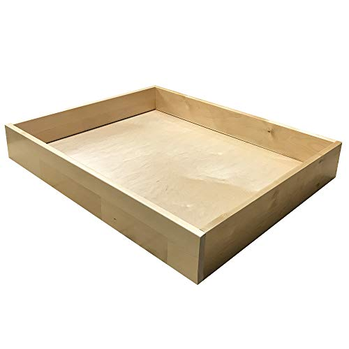 Wooden Drawer Box, Birch Drawer Sides, 1/2'' Thick - Choose Your Size - by handyct