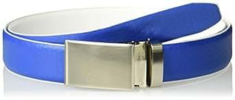 Arnold Palmer Men's Reversible Embossed Strap Belt, Royal to White, One Size