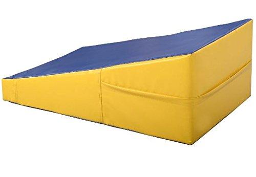 K&A Company Mat Incline Wedge Ramp Tumbling Gymnastics Gym Exercise Aerobics Folding Sports Cheese Large Skill Playmat Gymnastic Fitness New