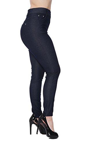 Unique Styles Ladies Jeggings Blowout Multiple Styles & Colors Regular & Plus Sizes (Large, Navy -