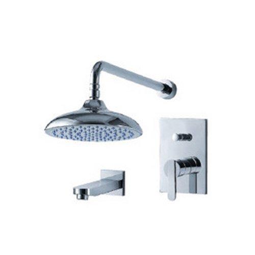 Líquido grifos f2840-t sabiduría presión equilibrio tina y llave de la ducha con lluvia alcachofa de ducha, chapado en...
