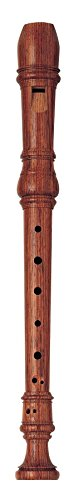 Yamaha YRS-64 Handcrafted Rosewood, Key of C, Soprano Recorder with Baroque Fingering