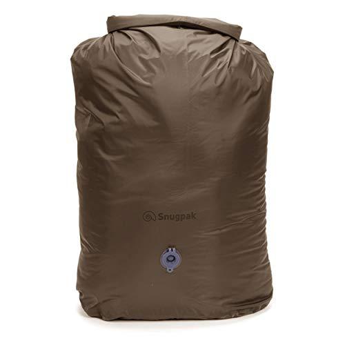 Snugpak Dri-Sak with Air Valve, Waterproof Storage Bag with Roll and Clip Seal, 40 Liter, Coyote