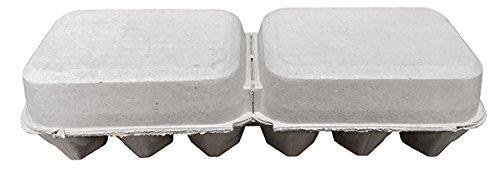 빈 스플릿 6 개 달걀 평면 상단 용지 펄프 카톤 - 125 팩/Blank Sp..