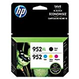 HP 952XL High Yield Black And HP 952 Cyan/Magenta/Yellow Ink Cartridges, Pack Of 4