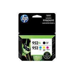 HP 952XL High Yield Black And HP 952 Cyan/Magenta/Yellow Ink Cartridges, Pack Of 4 by HP