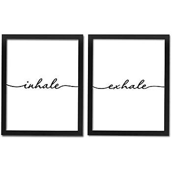 Amazon.com: akeke Inhale Exhale - Juego de dos impresiones ...