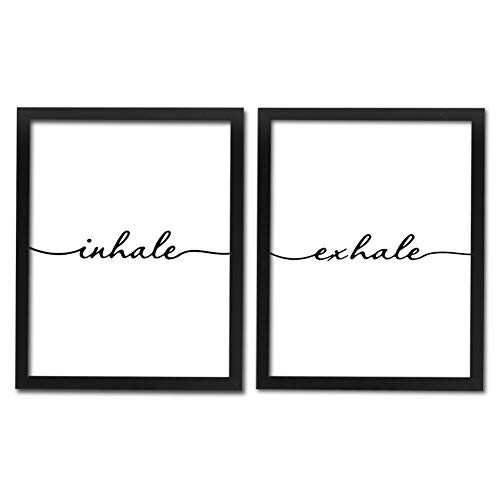 HPNIUB Framed Inhale Exhale Art Print Set of 2 (10