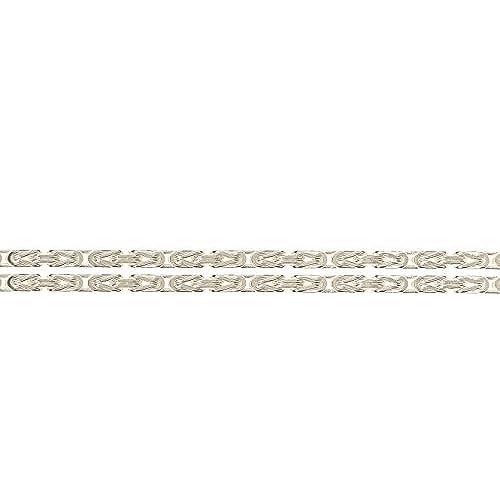 fd51b22b9bea TAIPAN bracelete pulsera byzantina collar hombre mujer 20cm largo 2mm ancho  plata de ley 925 muy