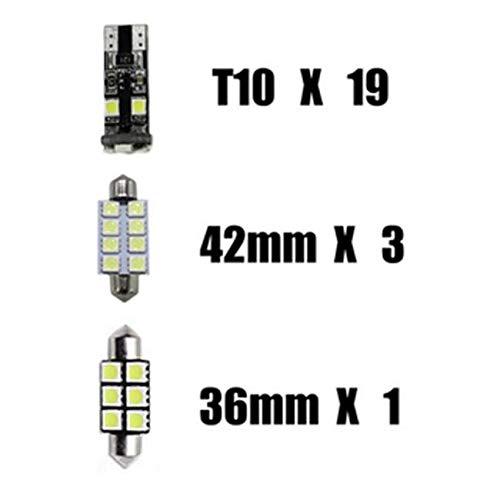 Pour X1 E84 LED Lampe Ampoules Blanc Wedge Int/érieur De Voiture Lumi/ère D/ôme Feux De Plaque Dimmatriculation Canbus Anti Erreur 12V Pas De Polarit/é Con/çu 12 Pi/èce