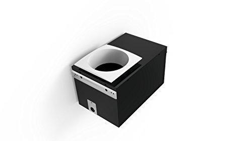 Aero Pure AP80-QVL Ventilation Square White Trim 80 CFM Quiet Bathroom Fan with Recessed Light and SquareTrim Opening