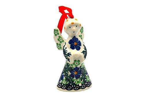 (Polish Pottery Ornament - Angel - Sweet Violet)