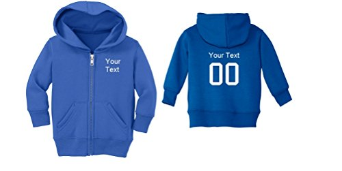 Precious Cargo Custom Personalized Baby Zip-Up Jacket (4T, Royal Blue)