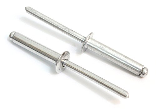 "Rivets, Aluminum, 3/16"" x 1"" Inch, (6-16), Choose Size, Gap (.75-1)"" (100 Pack), Blind Rivet by Bolt Dropper."