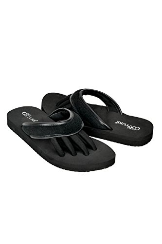 - Pedi Couture Super Lightweight Brand Sandals with Toe Separator Feature (Black, X-Large)