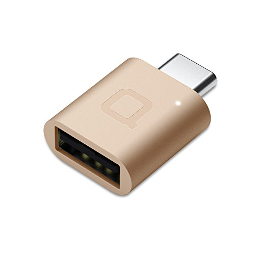 nonda USB Type C to USB 3.0 Adapter, Thunderbolt 3 to USB Adapter Aluminum with Indicator LED for MacBook Air 2018, Macbook Pro 2016, Macbook 12 inch, Pixel 3, Dell XPS, and More Type-C Devices(Gold)