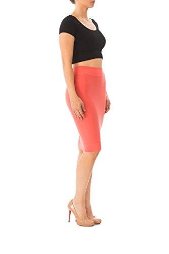 Karen Michelle LA Women's Pencil Skirt 1X Coral