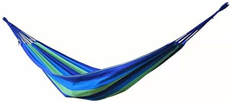 Airblasters Canvas Garden Hammock Outdoor Camping Portable Travel Beach Swing Bed-Blue