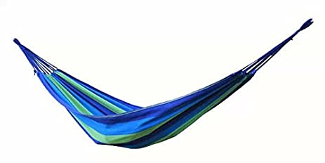 Airblasters Canvas Garden Hammock Outdoor Camping Portable Travel Beach  Swing Bed Blue