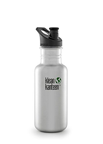 Klean Kanteen Wide Insulated Water Bottle, 12 Fluid Ounces with Cafe Cap 2.0 - Brushed Stainless, 18-Ounce (Klean Kanteen Water Bottles)