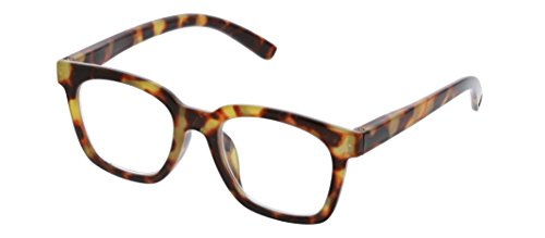 Peepers Women's To The Max - Tortoise 2516100 Square Reading Glasses, Tortoise, 1 from Peepers