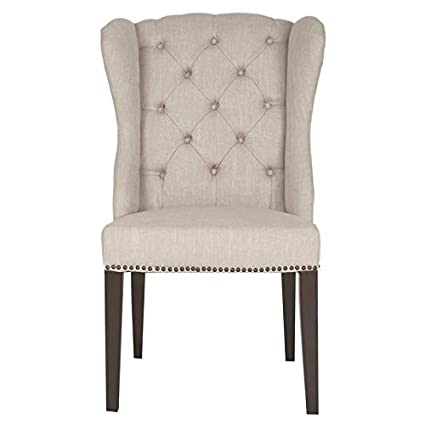 Prime Amazon Com Maklaine Wing Back Dining Chair In Birch And Pabps2019 Chair Design Images Pabps2019Com