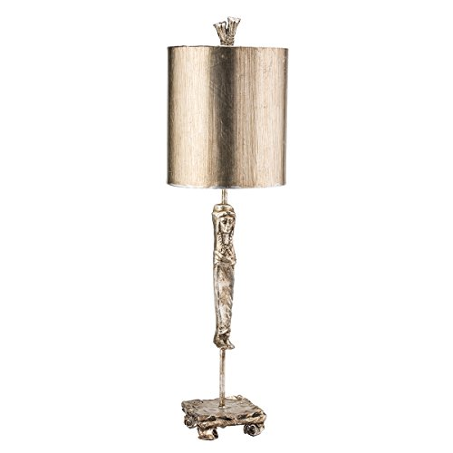 Flambeau Lighting TA1015 Caryatid Silver Table Lamp Leaf Stem with 18th Century Element, Silver Leaf Stem with 18th Century Caryatid Element (18th Century Lighting)