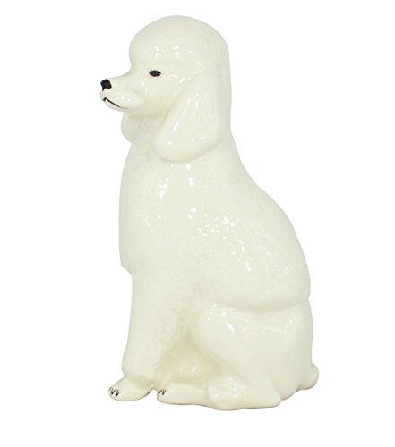 King Poodle White Colored Lomonosov Porcelain Collectible Figurine