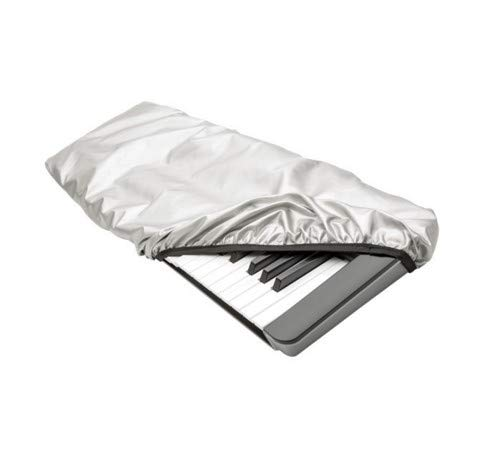 Maloney StageGear Piano Keyboard Dust Cover for 76 & 88 Key Keyboards - Reversible Black Nylon Keeps it Free from Dust, Dirt, & Moisture; Silver Reflective Material Protects from Sun - Large (82759)