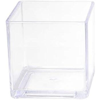 Royal Imports Flower Acrylic Vase Decorative Centerpiece for Home or Wedding Break Resistant - Cube Shape, 6