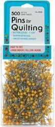 Bulk Buy: Dritz Yellow Quilting Pins Size 28 500/Pkg C122 (2-Pack) by Dritz