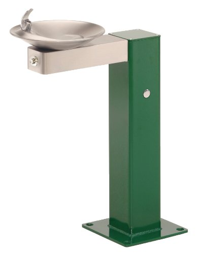 Haws 3377FR Stainless Steel Barrier-Free Freeze-Resistant Pedestal Drinking Fountain with Bowl and Bracket (Freeze-Resistant Valve Not Included)
