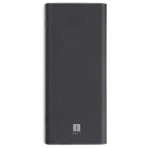 iBall 10000mAh Li-Polymer Slim Design Smart Charge Powerbank – LPS 10000 (Grey)