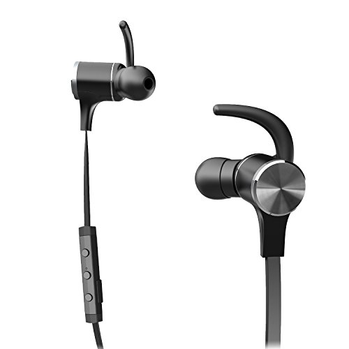 Bluetooth 4.1 In Ear Headphones Wireless Earbuds Sports Magnetic Earphones with Built-in Mic (Sweatproof with IPX5 Splash Proof Rating, Stereo, Up to 7 Hours Talk Time)
