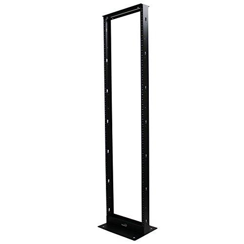 eight 2-Post IT Open Frame Server Network Relay Rack Aluminum Black ()