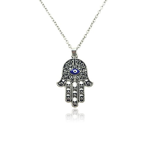 Evil Eye Hamsa Hand Necklace for Protection and Good Luck - LuckyEye Jewelry