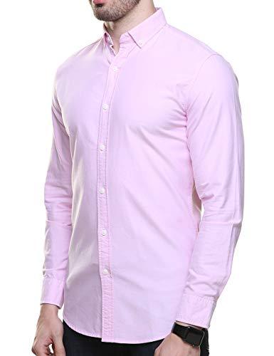 Piero Lusso Men's Long Sleeve Regular Fit Casual Sold Colour Dress Shirt 3