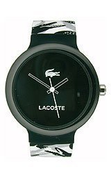 Lacoste Goa Silicone - Black/White Unisex watch #2020059
