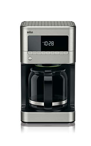 Braun KF7170SI BrewSense Drip Coffeemaker, 12 cup, Stainless Steel Delay Brew Coffee Maker