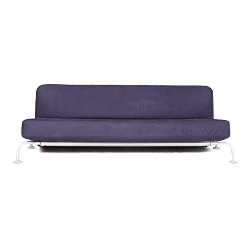 B & B Italia Designer Fabric Sofa Purple Three Seater Function Couch Sofa Bed Sofa Bed