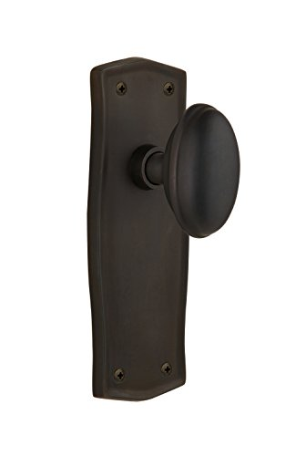 Nostalgic Warehouse Prairie Plate with Homestead Knob, Single Dummy, Oil-Rubbed Bronze