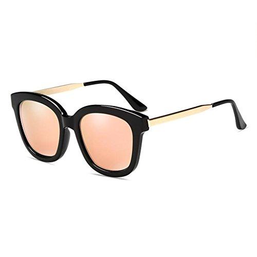 marco de coloridos white cherry gafas polarizado frame gafas Transparent Bright black coreanas al frame UVB400 UV WLHW UVA de femeninas Color libre sol powder Gafas conducción blue resina sol de aire xPRIq