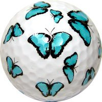 Blue Butteryfly Novelty Golf Ball Single Ball ()