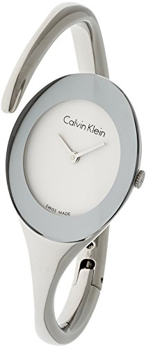 Calvin Klein K4Y2M116 Embrace Women Watch- White Dial Stainless Steel Case Quartz (Calvin Klein Womens White Dial)